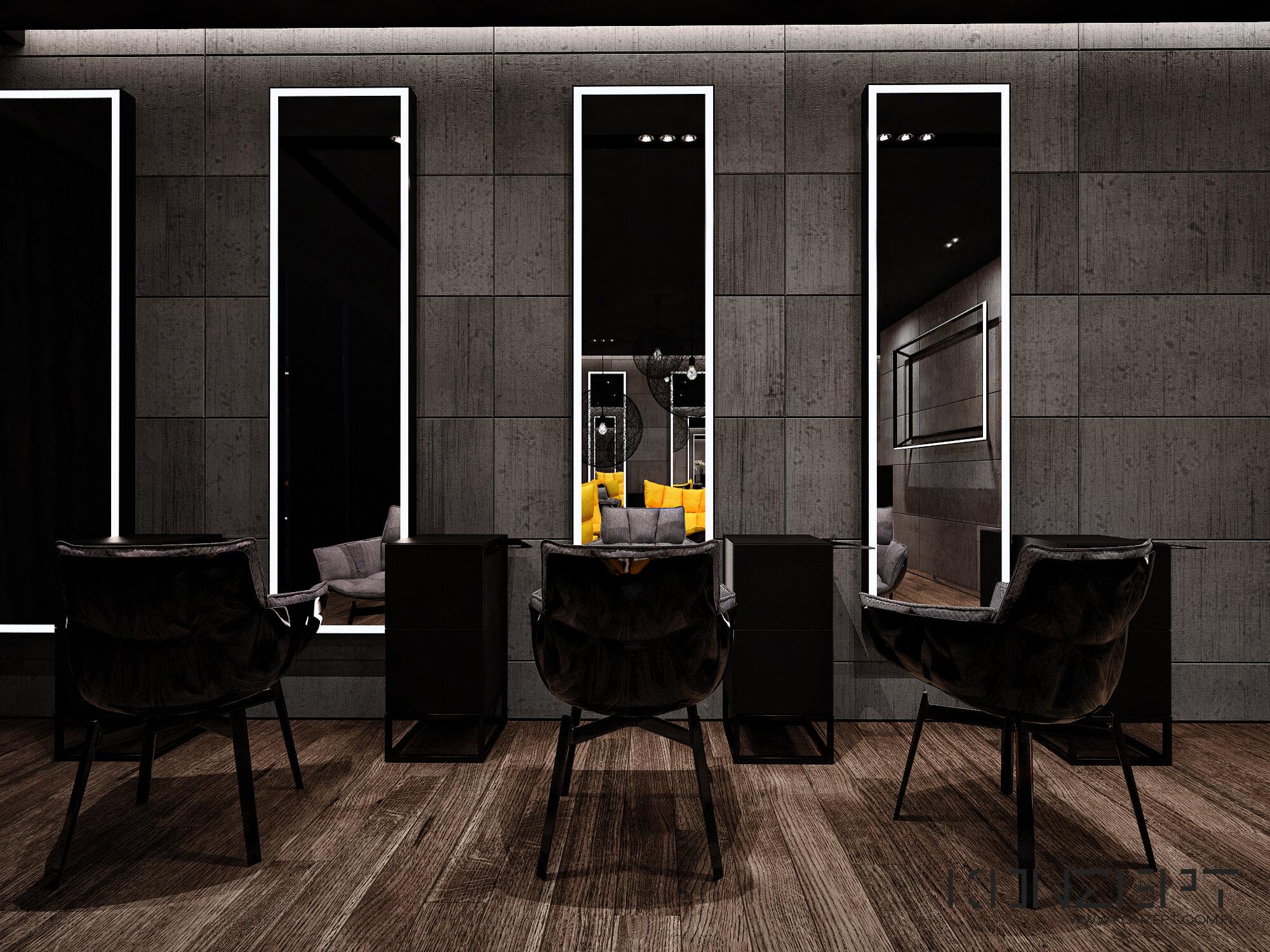 Salon Fryzjerski Angel Wawel Projektant Wnętrz Aranżacja Wnętrz